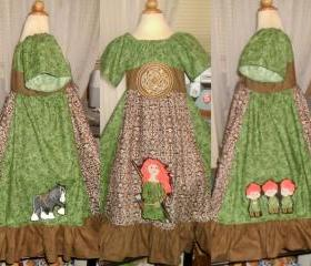Disney Custom Brave Peasant Dress